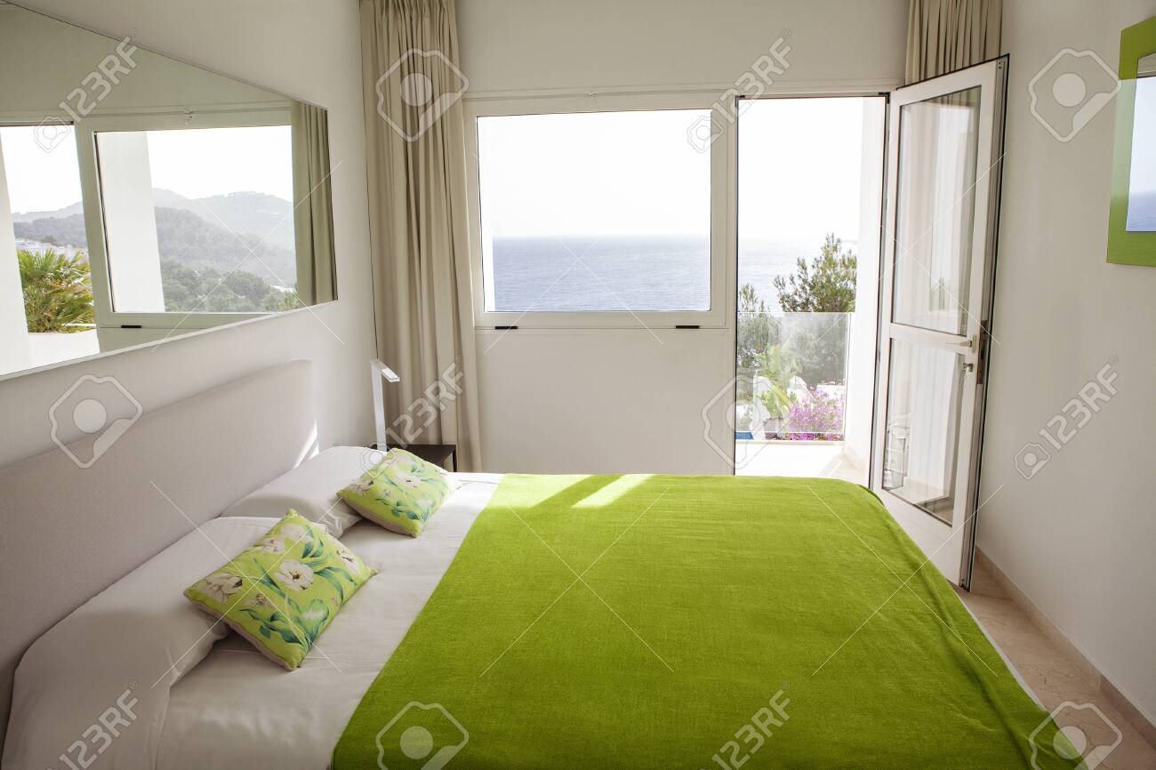 Interior Design In Bedroom Of Pool Villa With Cozy King Bed Stock Photo Picture And Royalty Free Image Image 148229309