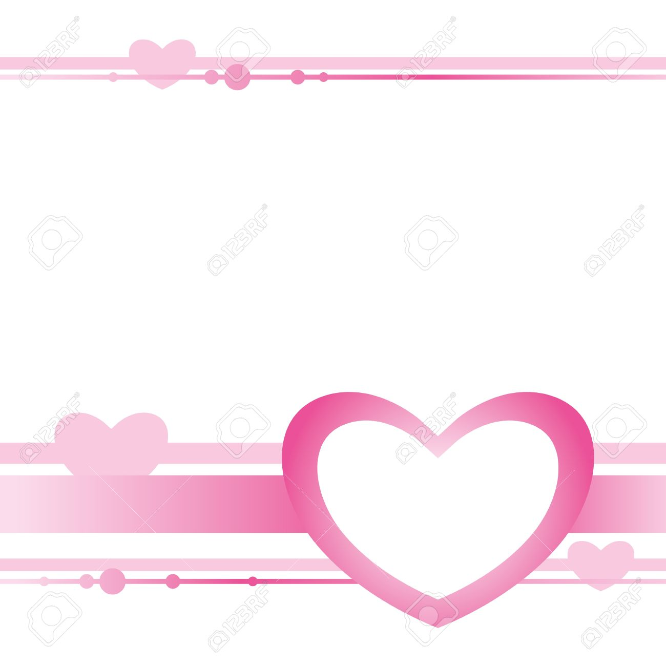 Cute Card With Pink Heart On White Background Royalty Free Cliparts
