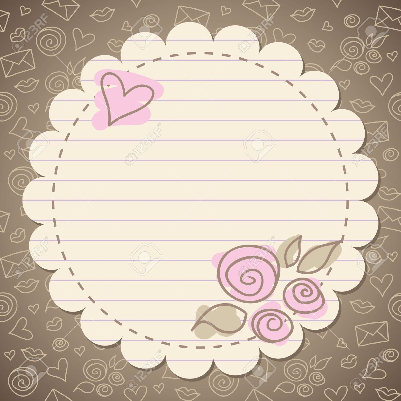 Cute vintage romantic frame with old paper royalty free cliparts cute vintage romantic frame with old paper stock vector 10199738 sciox Gallery