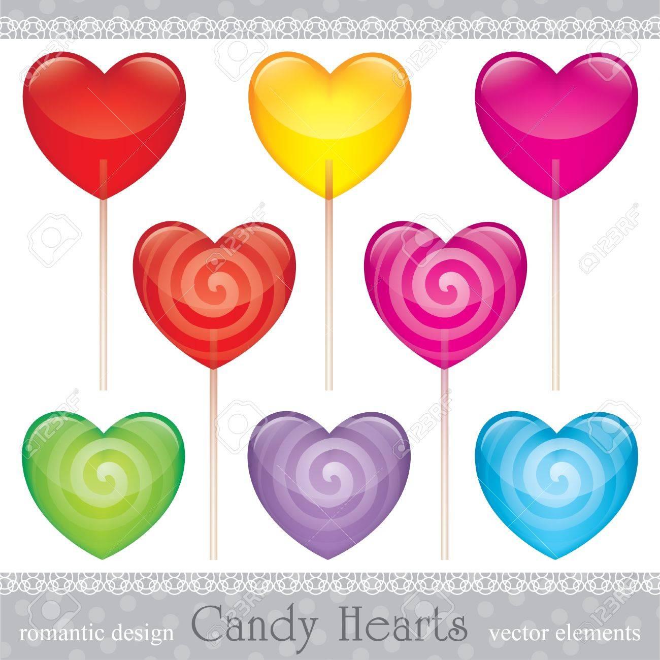 lollipops set, valentine's day illustration Stock Vector - 11438632