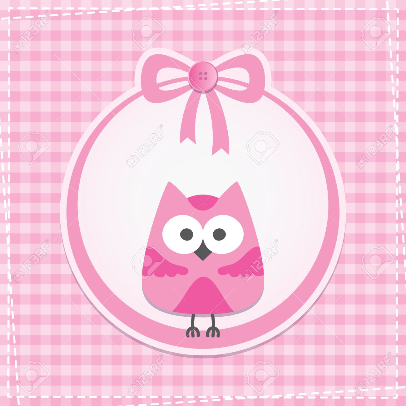 baby frame with owl, vector eps 10 Stock Vector - 14168539
