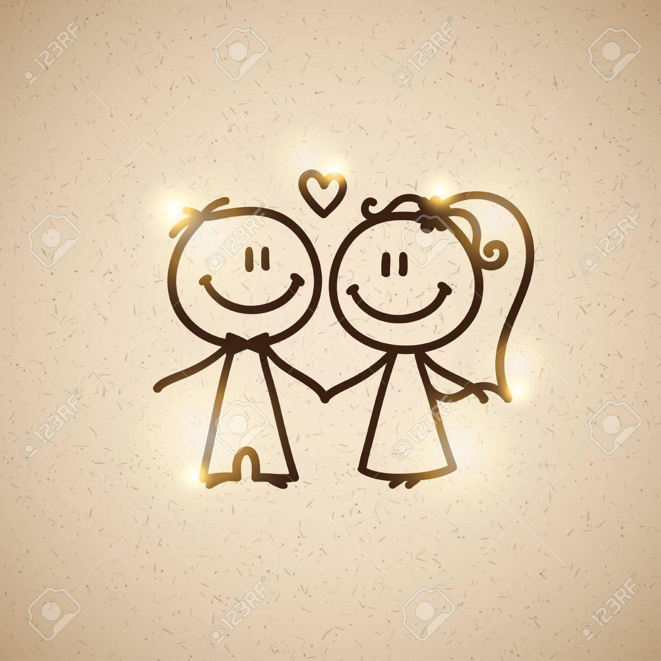 wedding couple, vector eps 10 Stock Photo - 18427380
