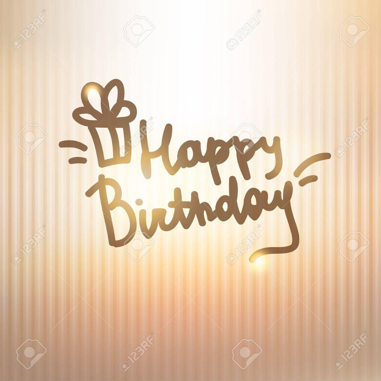 happy birthday, handwriting lettering Stock Vector - 21006227