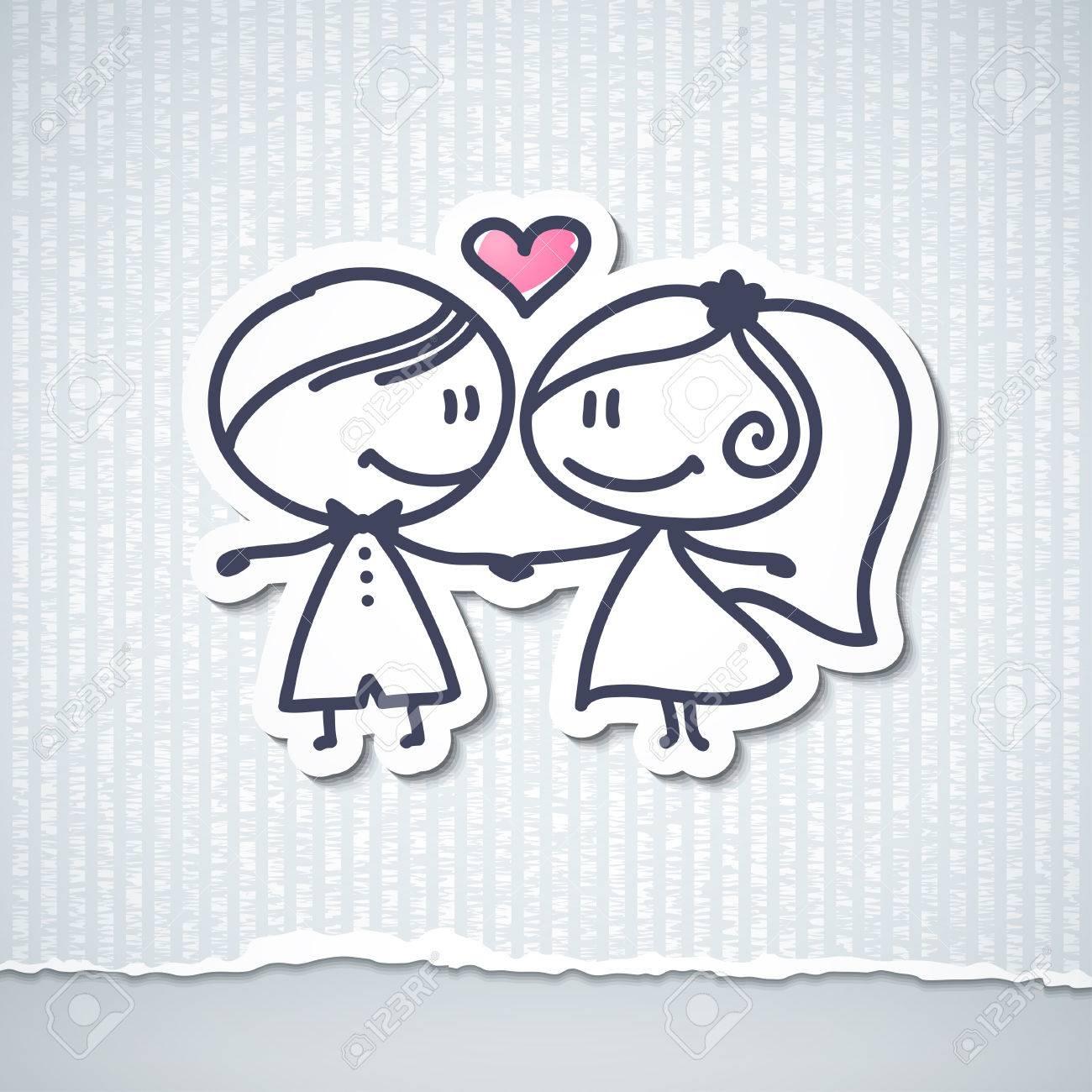 手描きの結婚式のカップル ロイヤリティーフリーフォト、ピクチャー