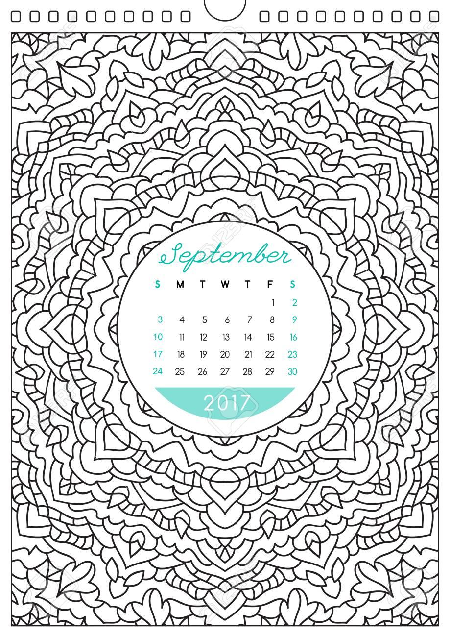 Calendario De Pared 2017 Con Adorno Para Colorear, Libro Para ...