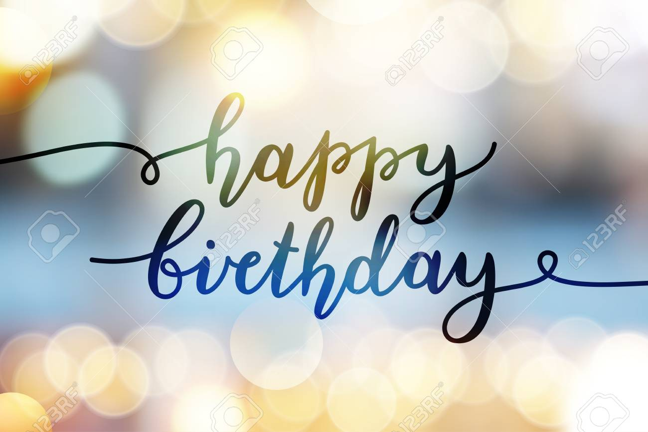 happy birthday, vector lettering, greeting card template - 88019903