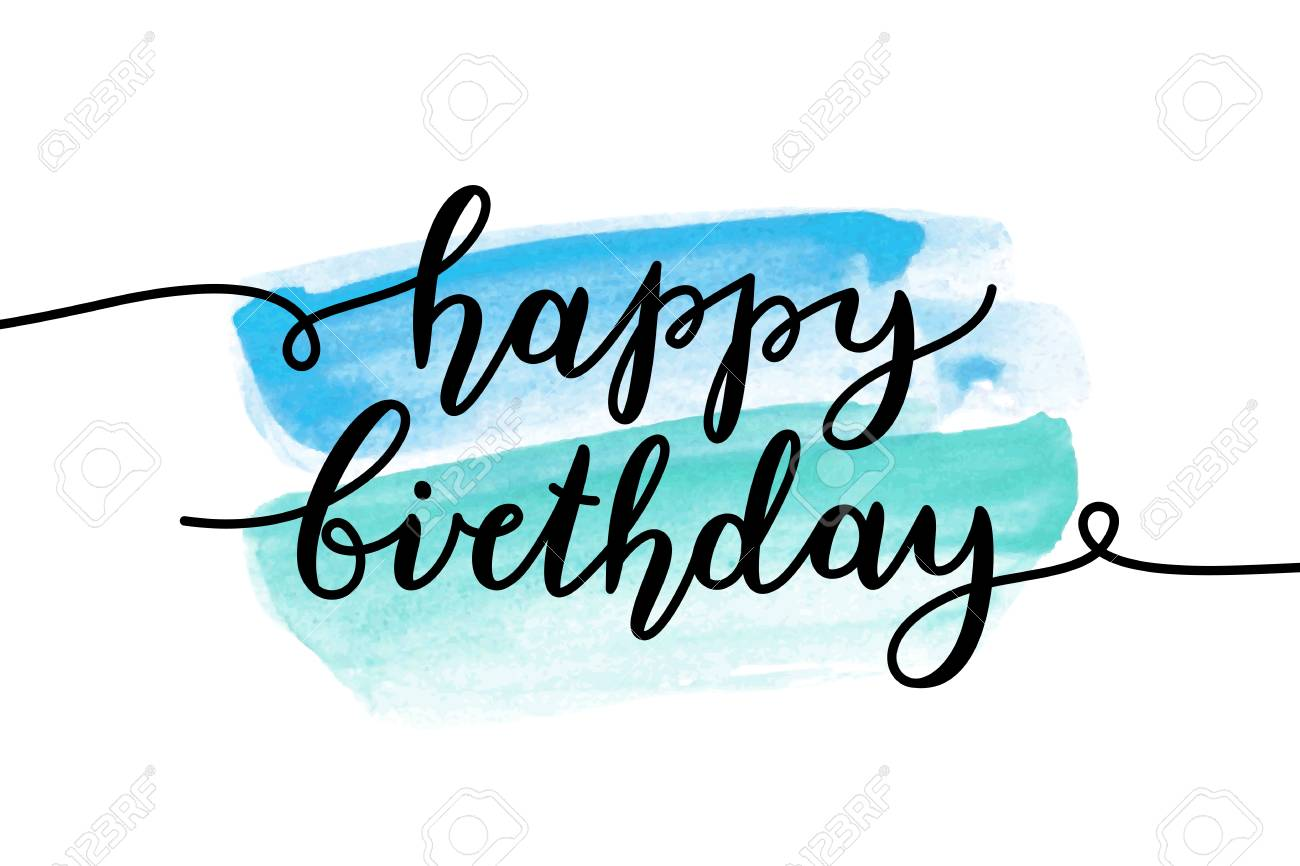 happy birthday vector lettering greeting card template royalty rh 123rf com birthday vector card happy birthday cards vector free download