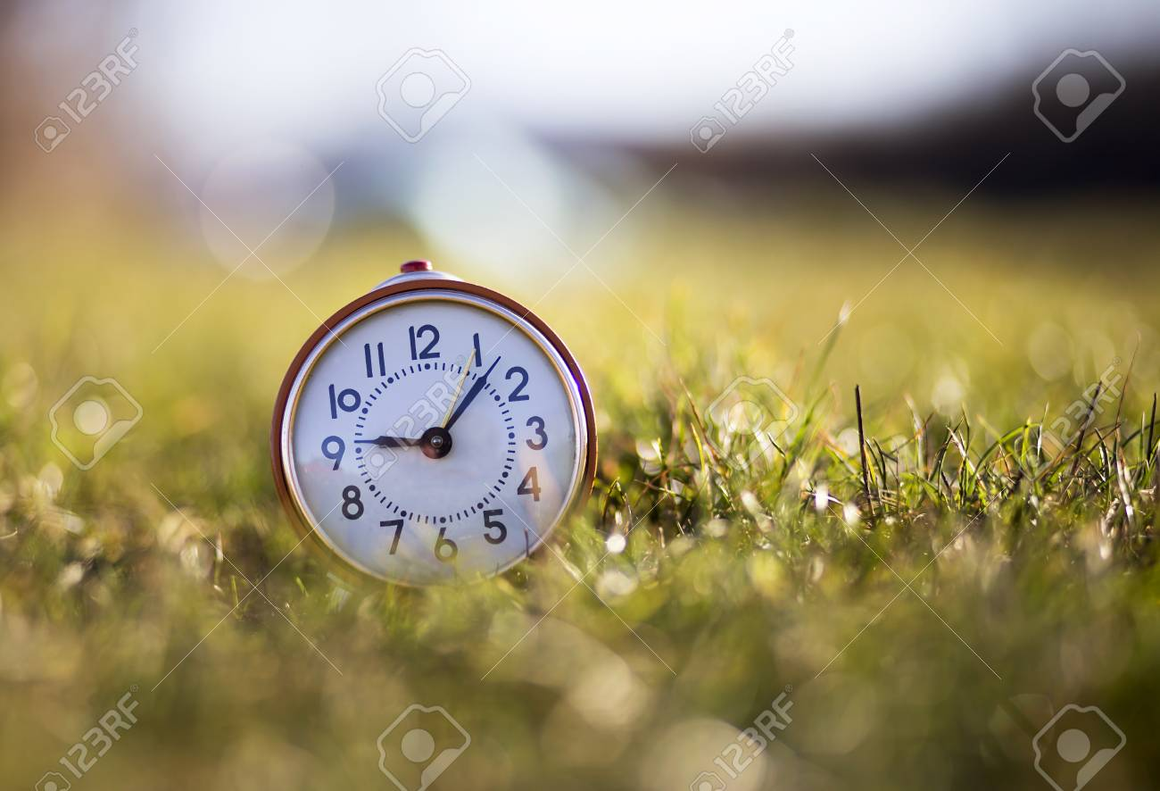 Good Morning Alarm Clock In The Nature Stock Photo Picture And