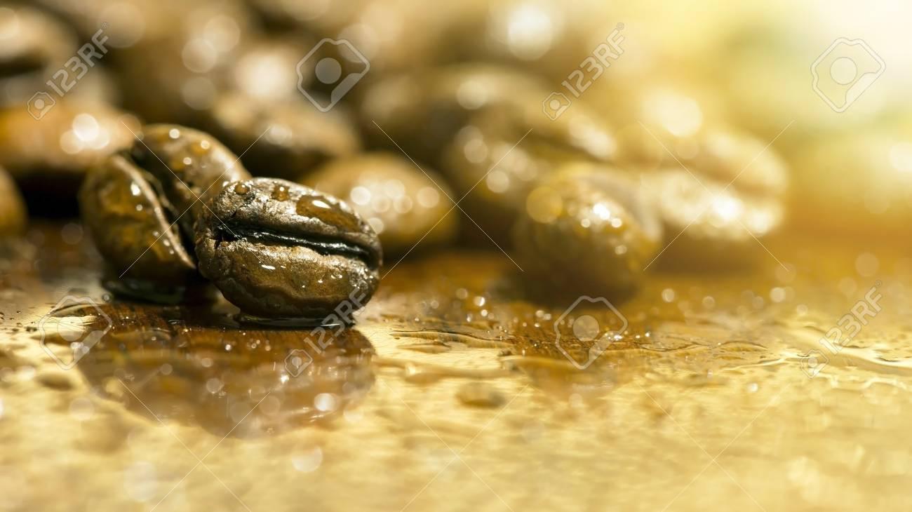 Website Banner Of Fresh Coffee Beans Closeup
