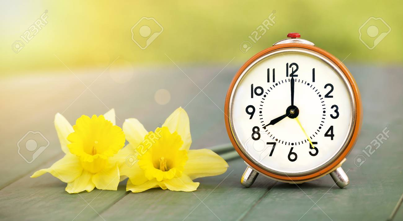 Good Morning Concept Web Banner Of Yellow Flowers And Orange