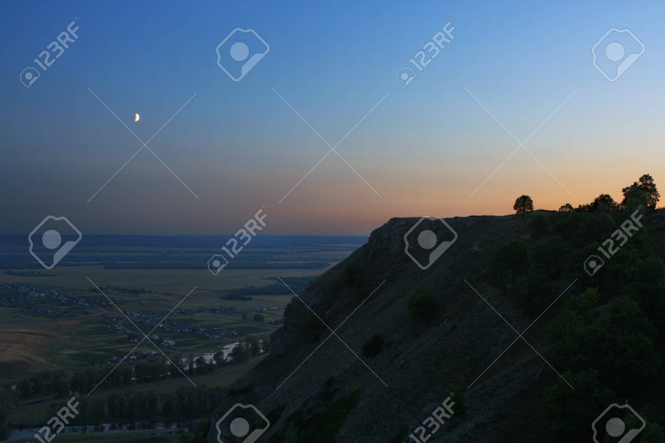 night landscape with moon Stock Photo - 7495680