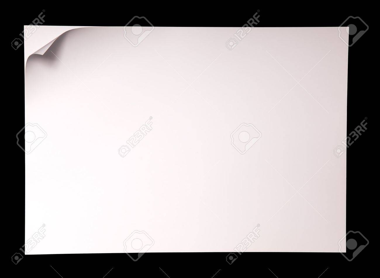 Paper page with curl, copy space for your text. Stock Photo - 7593140