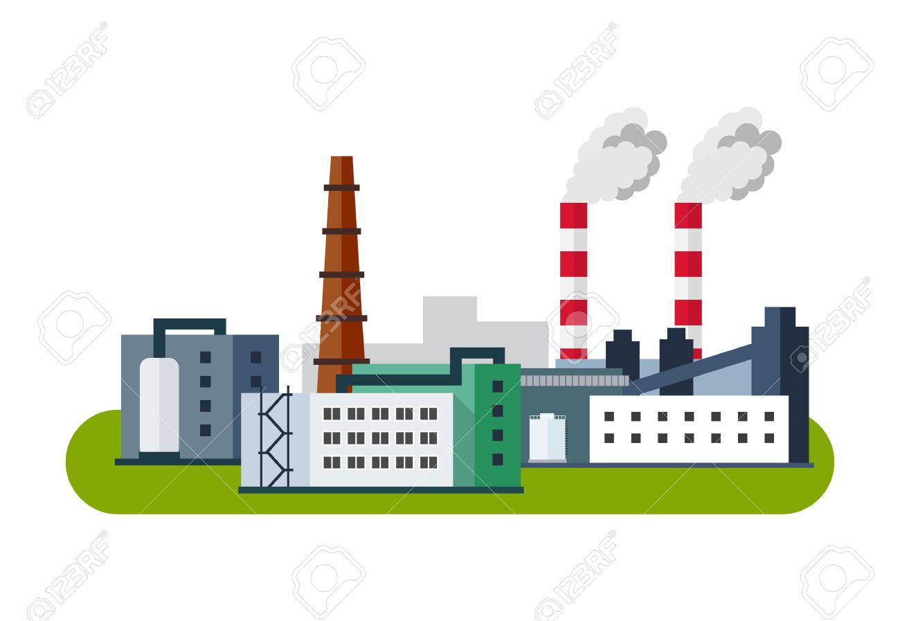 Industrial Factory Icon, Vector illustration in flat style. - 53298306