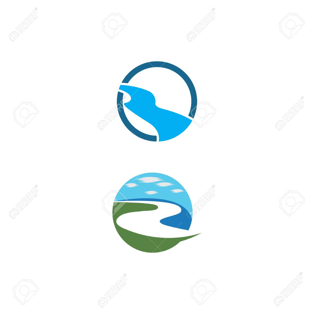 river vector icon illustration design royalty free cliparts vectors and stock illustration image 140195973 123rf com
