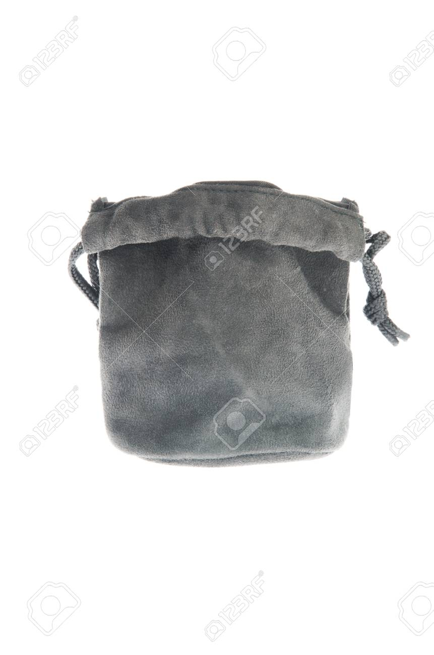 Bag, black pouch isolated on white background Stock Photo - 12521498