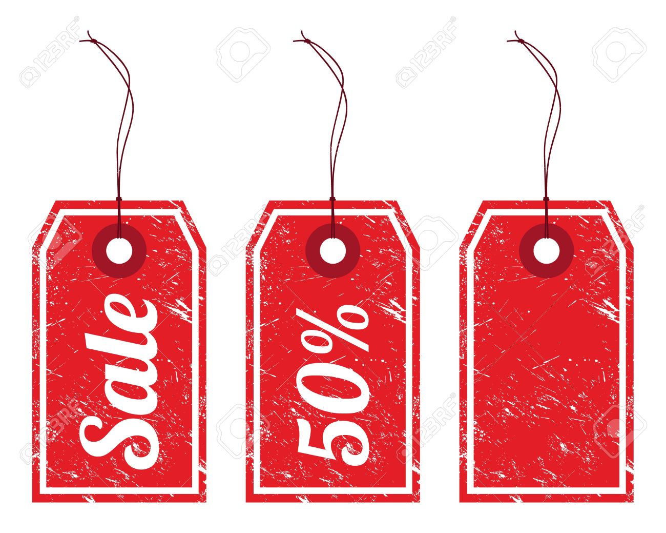 Sale vintage price tags Stock Vector - 13784850