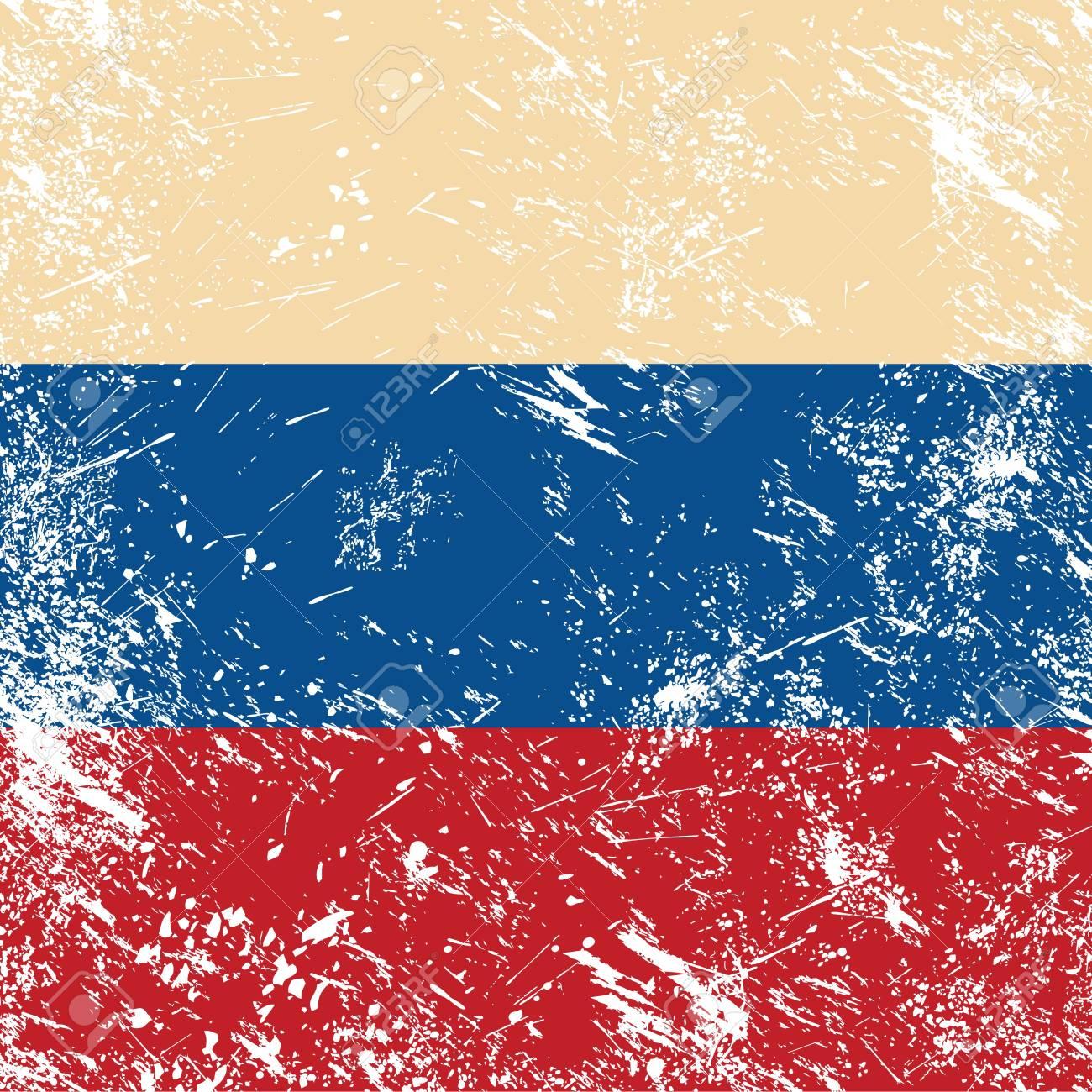 Russia retro flag Stock Vector - 14557207