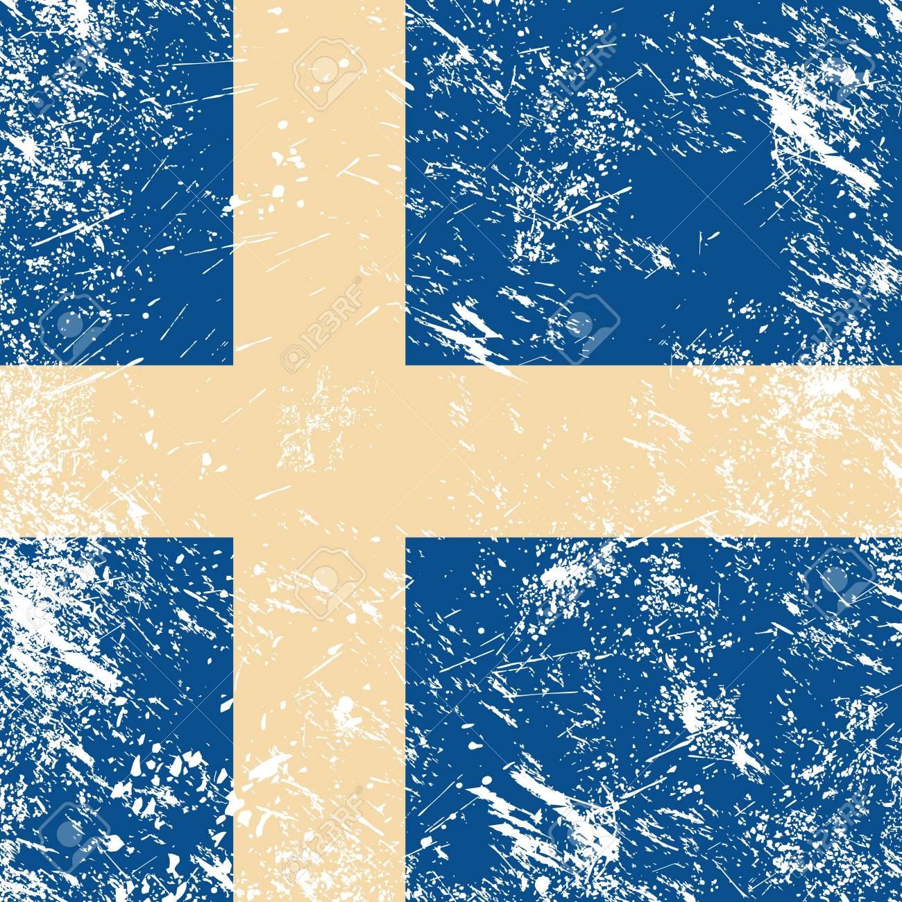 Sweden retro flag Stock Vector - 14623507