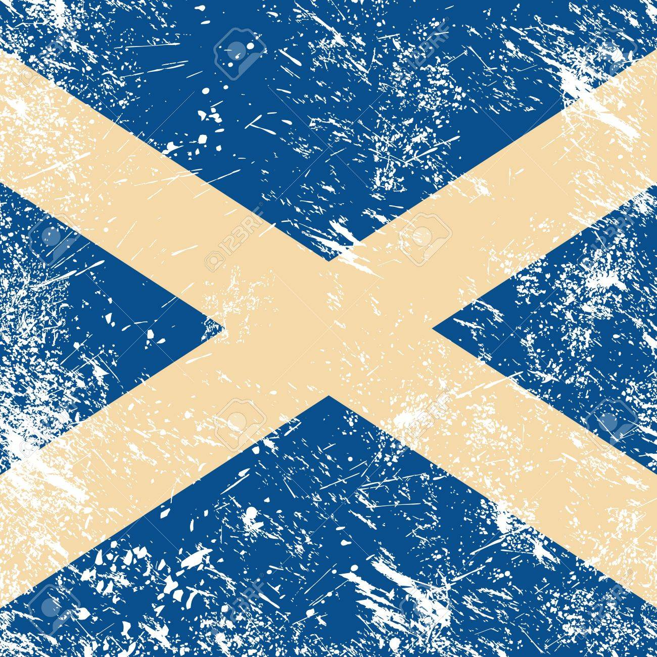Scotland retro flag Stock Vector - 14623517