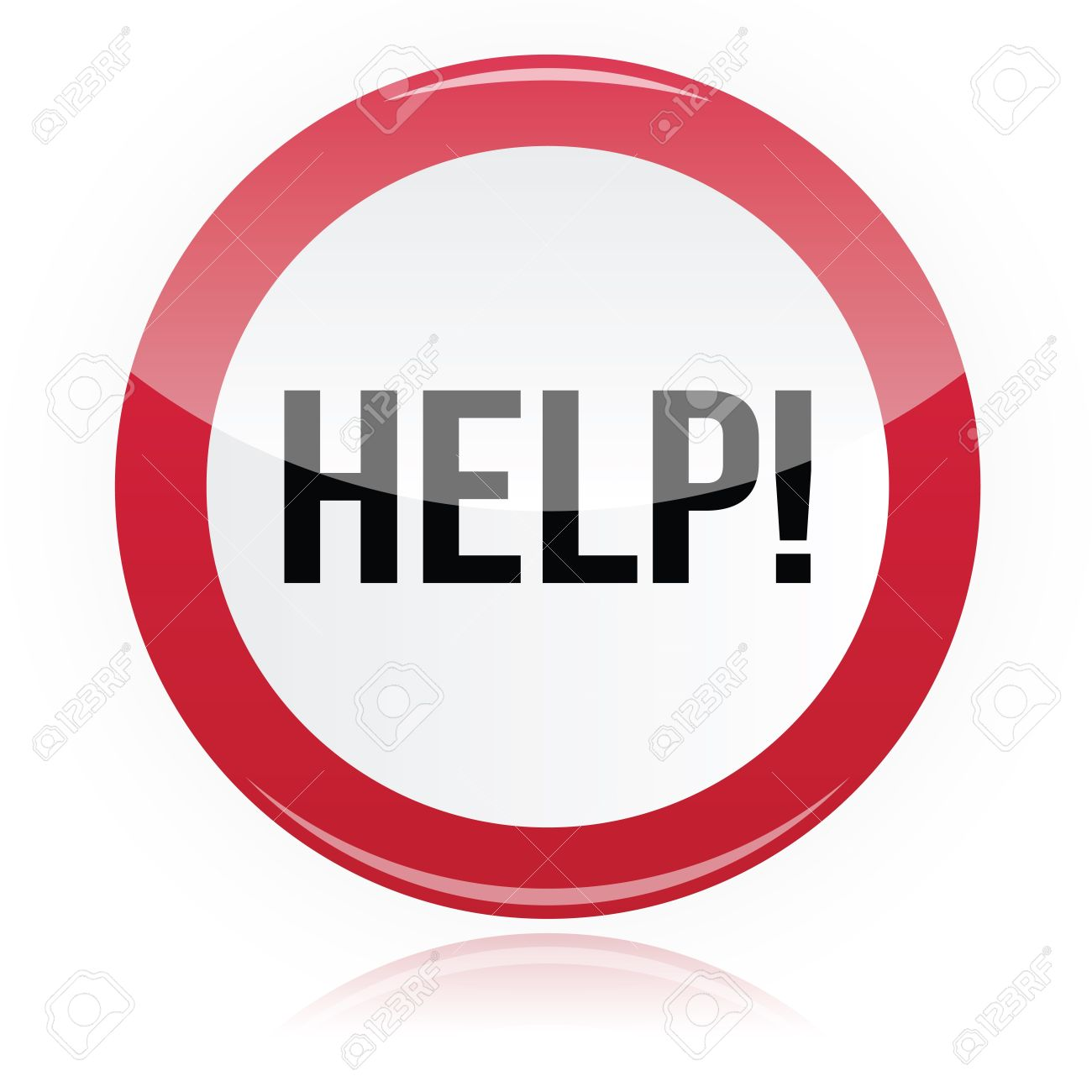 help problem glossy red sign royalty free cliparts vectors and