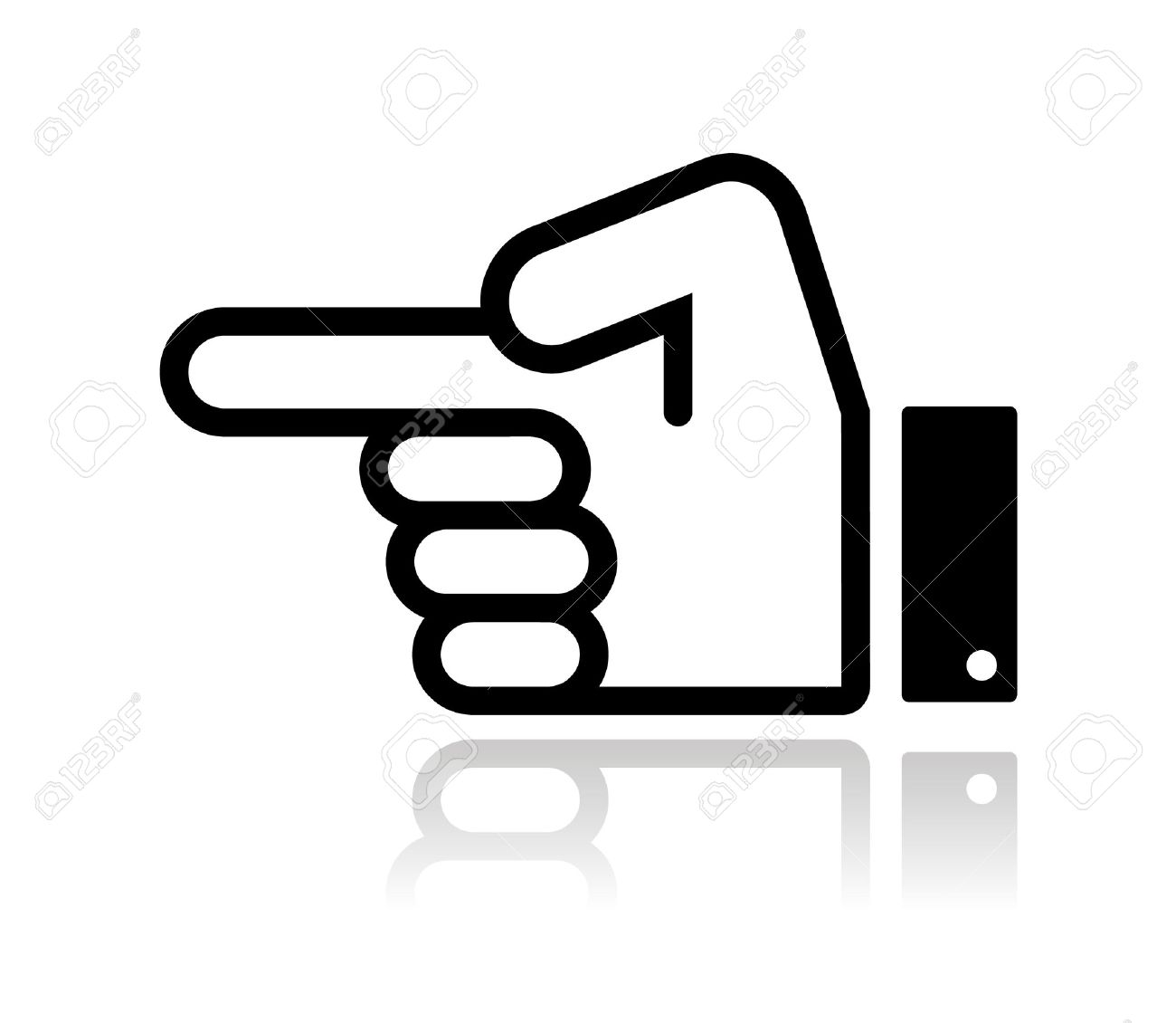 Pointing hand icon vector Stock Vector - 16059631