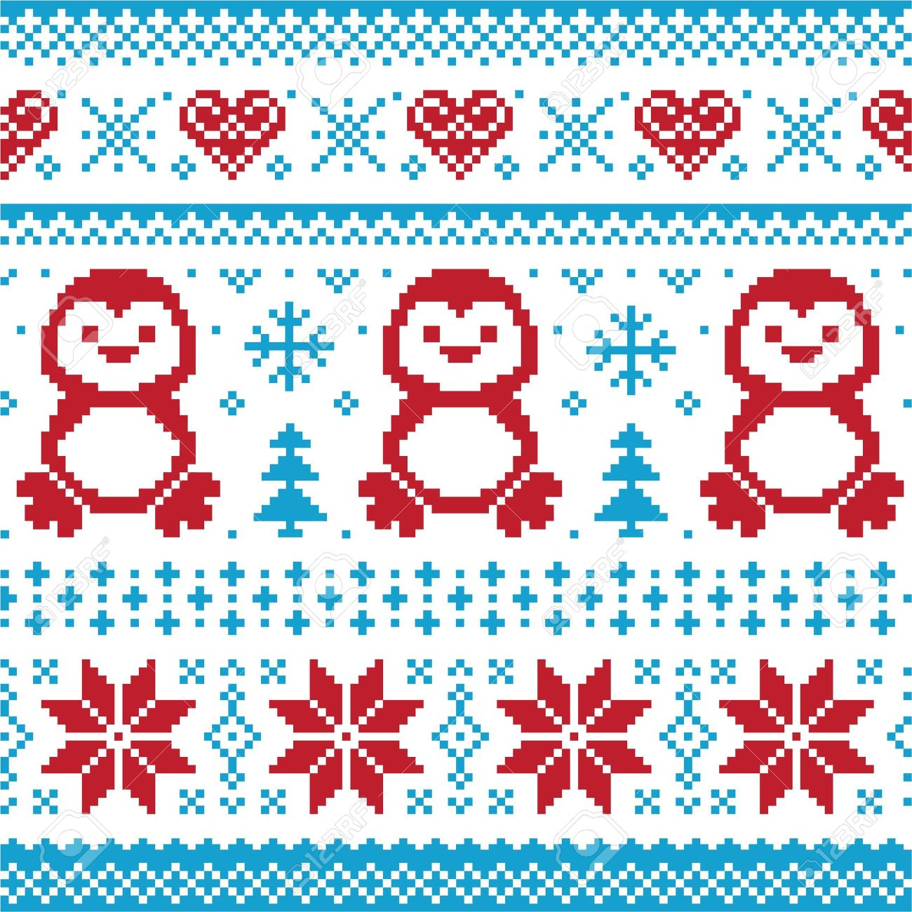 Christmas And Winter Knitted Pattern, Card - Scandynavian Sweater ...