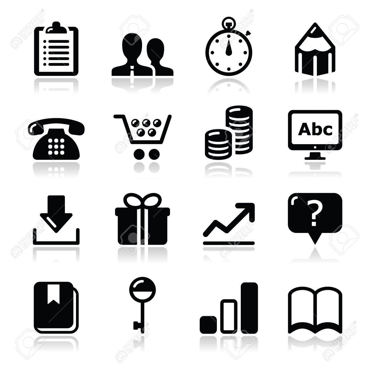 Website internet icons set Stock Vector - 17208827