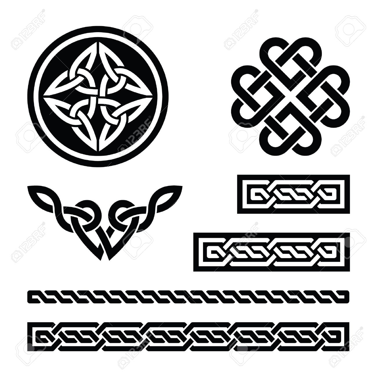 Celtic knots, braids and patterns - vector Stock Vector - 17526766