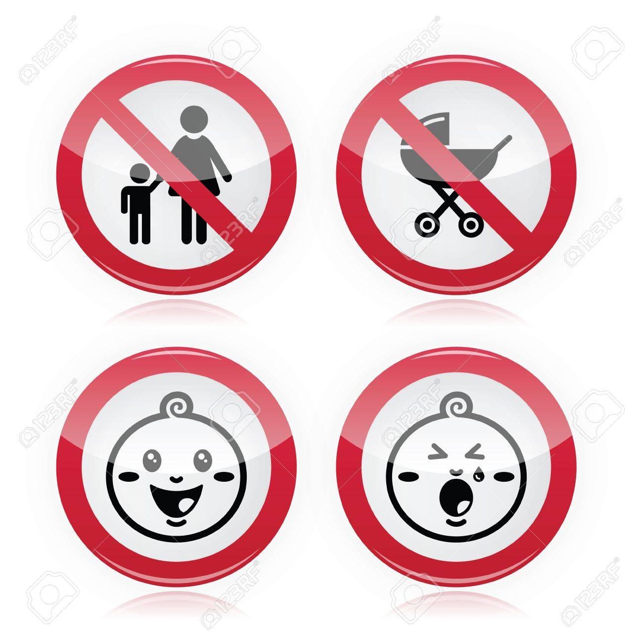 Warning sign  no babies, no children Stock Vector - 17526772