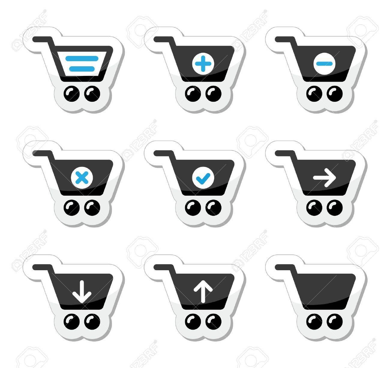 Shopping cart vector icons set Stock Vector - 17772379