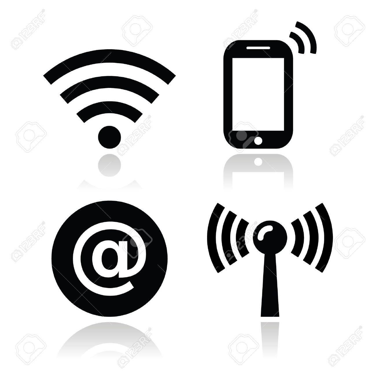 Wifi network, internet zone icons set - 18293307