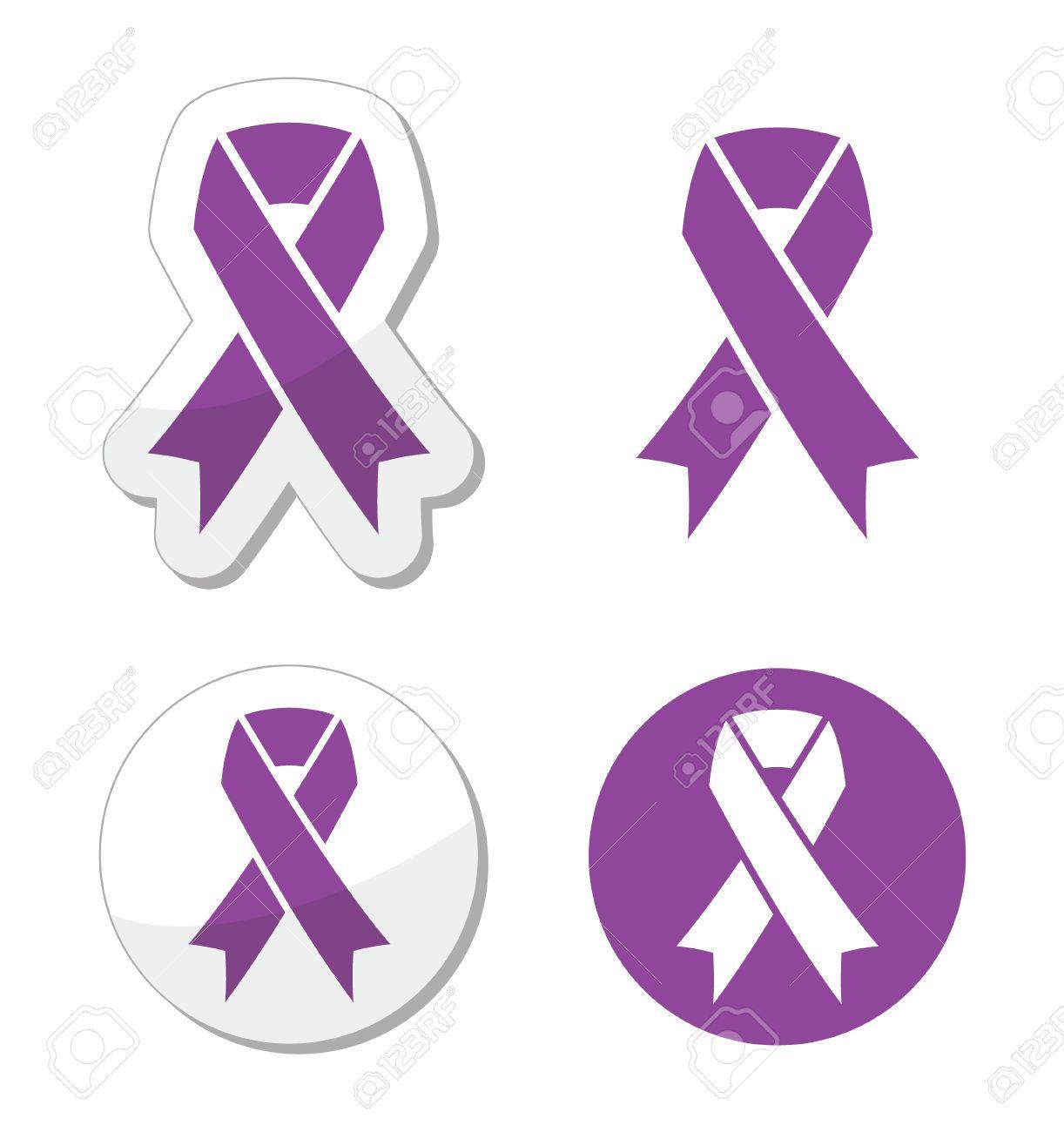 Purple Ribbon Pancreatic Cancer Testicular Cancer Domestic