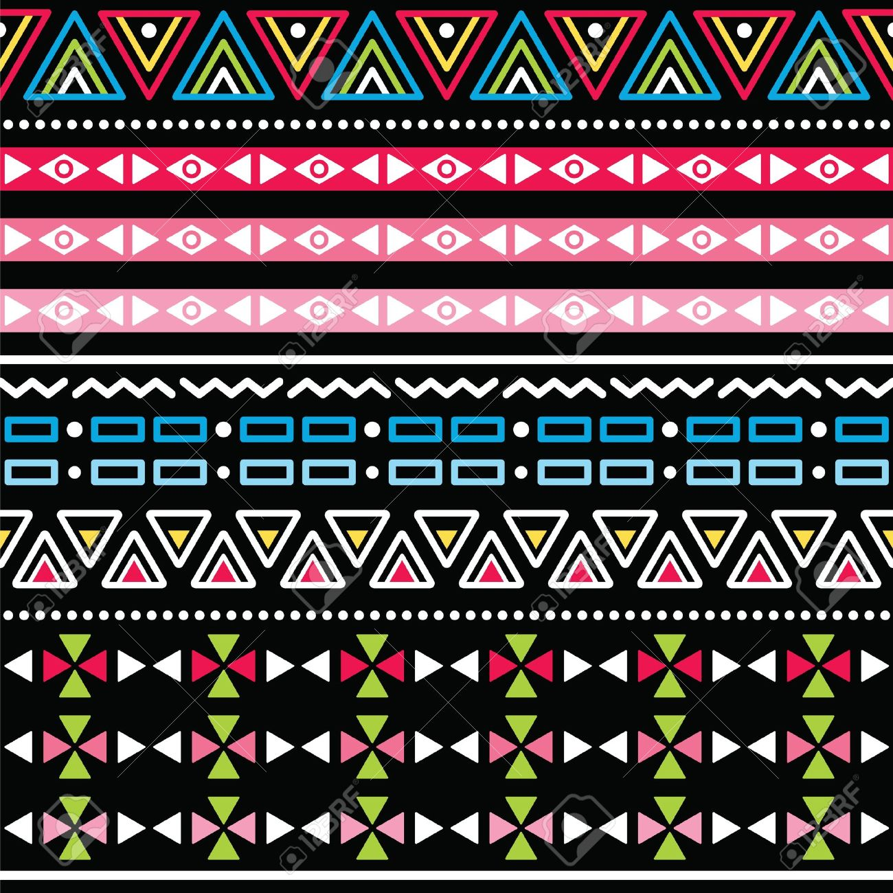 Tribal aztec colorful seamless pattern Stock Vector - 19481551