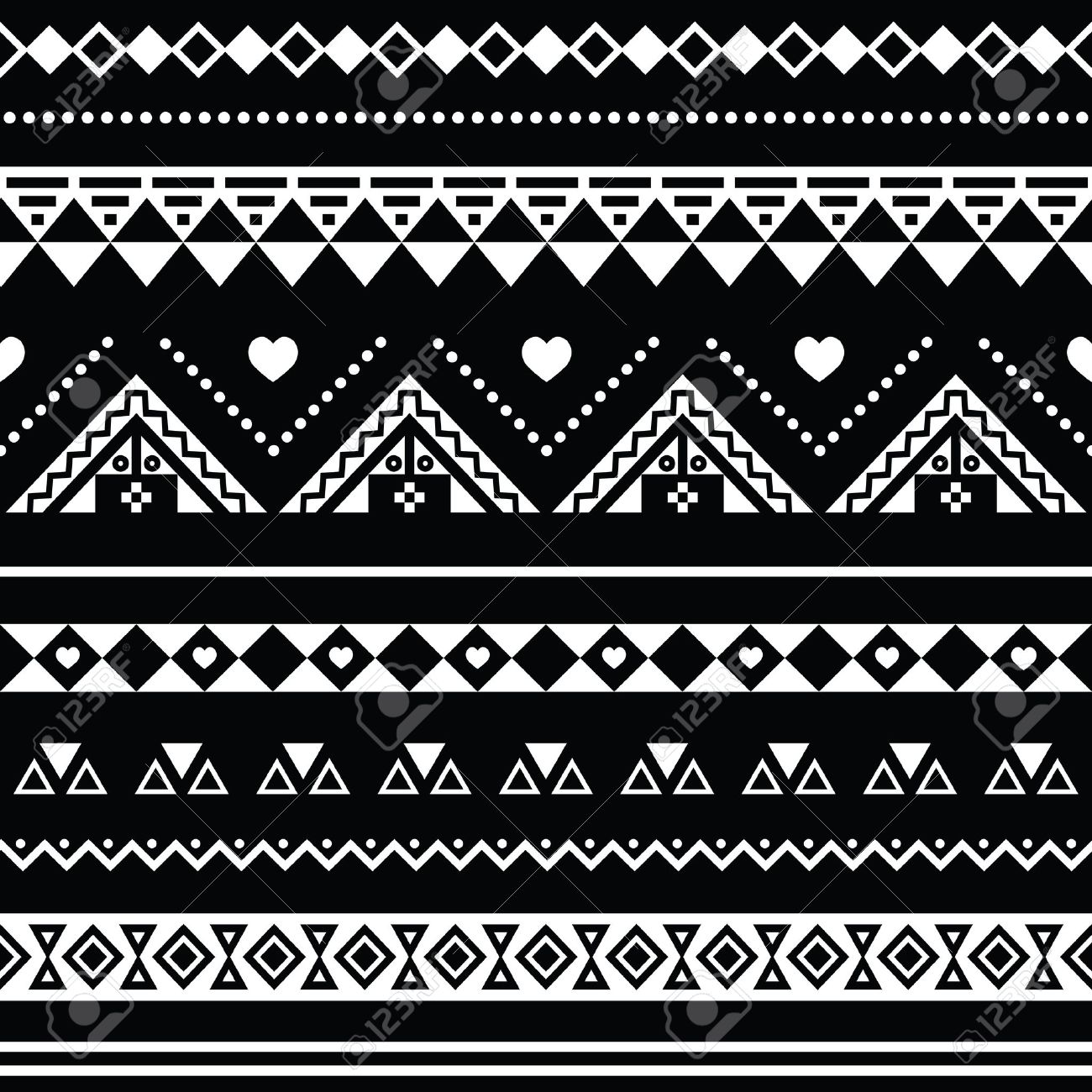 Aztec Designs And Patterns Aztec Seamless Pattern Tribal
