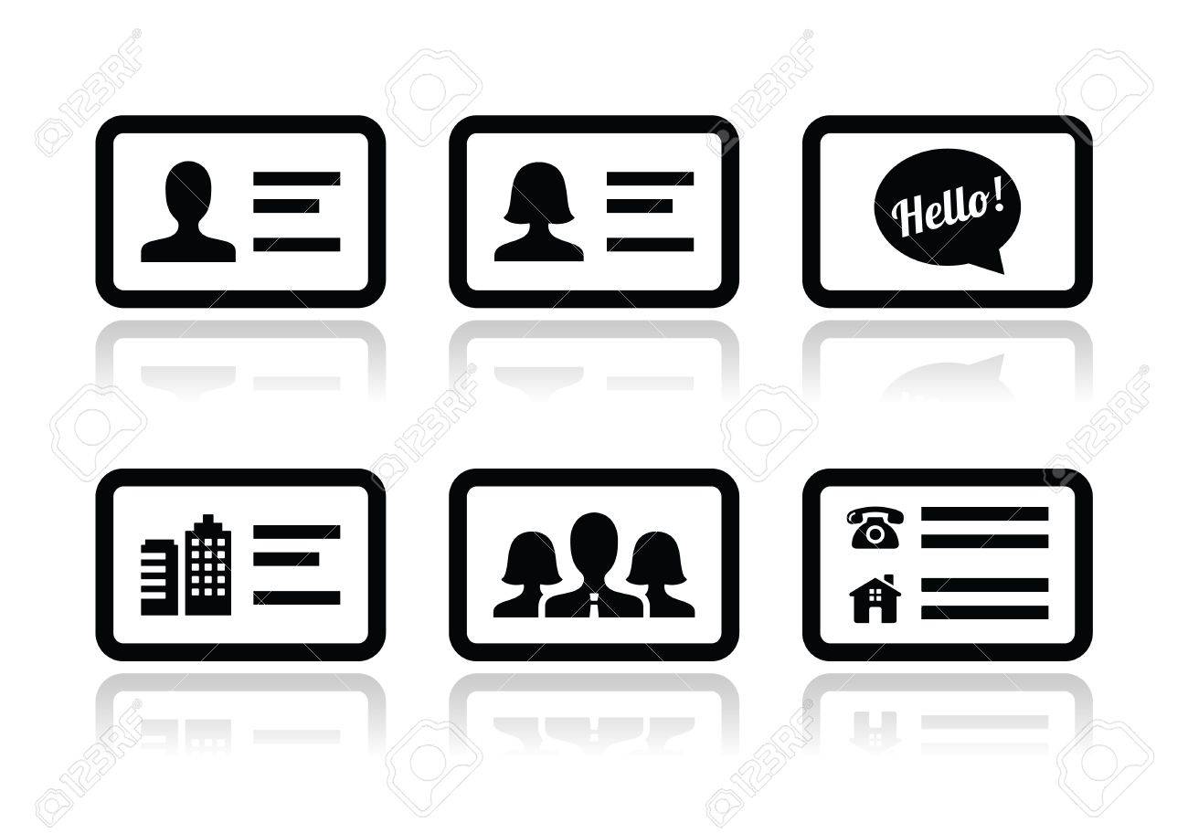 Business Card Vector Icons Set Stock