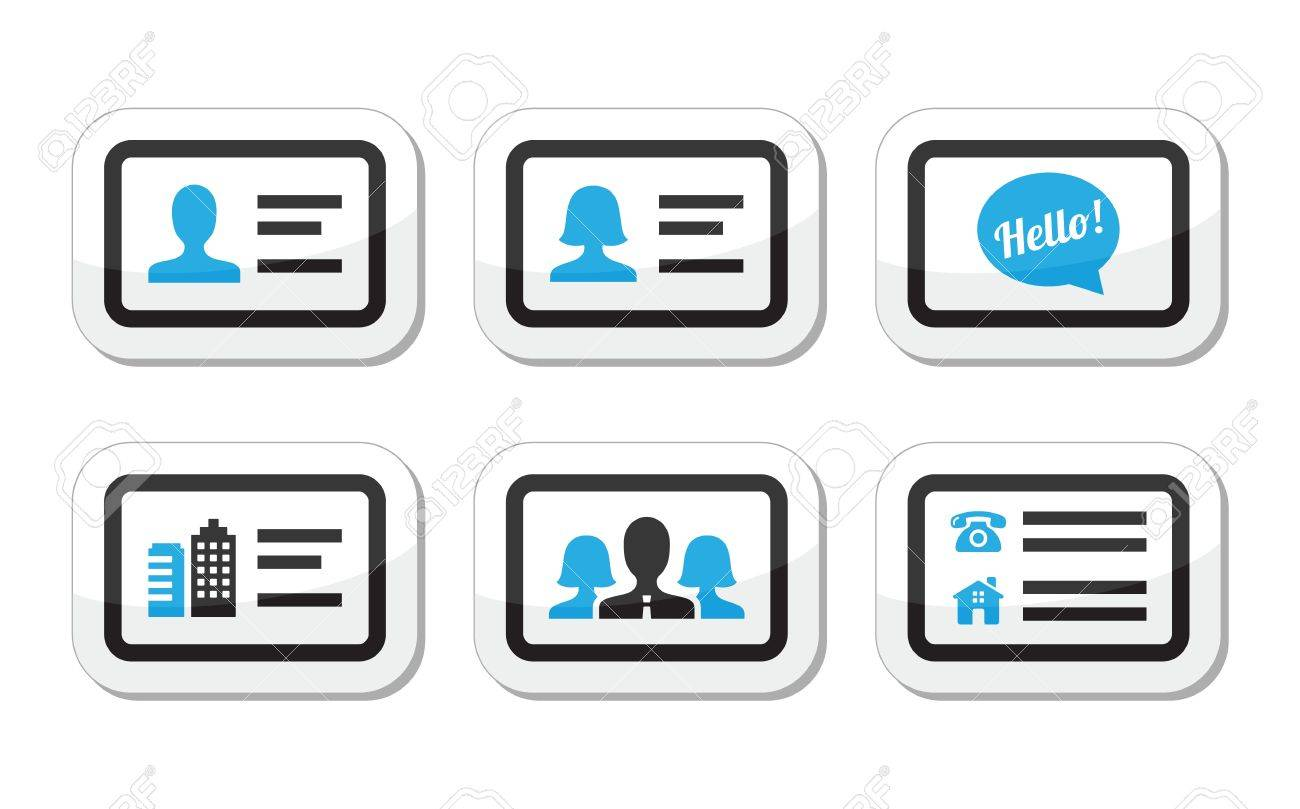 Business card vector icons set Stock Vector - 20502341