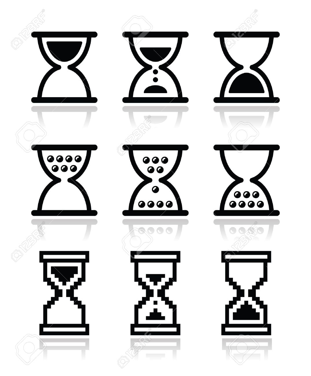 Sanduhr icon  Sanduhr, Sanduhr-Icon-Set Lizenzfrei Nutzbare Vektorgrafiken, Clip ...