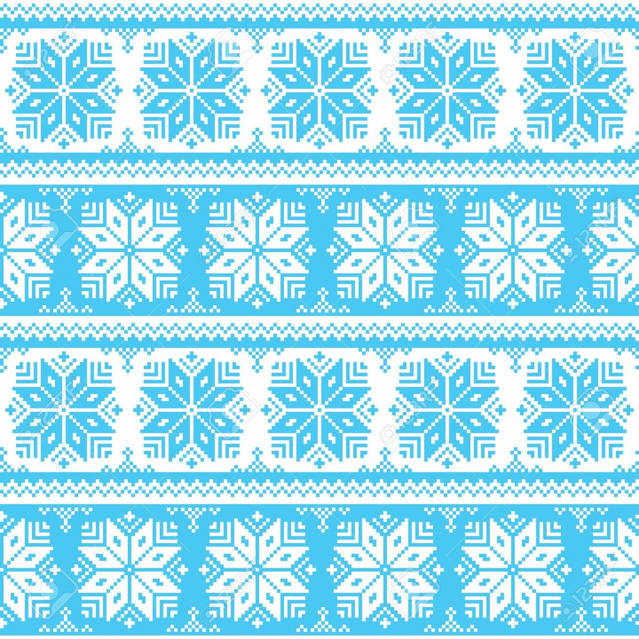 Nordic seamless christmas blue pattern Stock Vector - 21773227