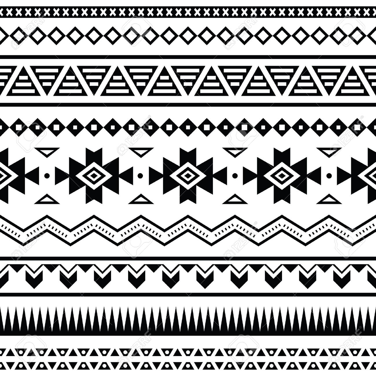 Background geometric mexican patterns seamless vector zigzag maya - Aztec Mexican Seamless Pattern Stock Vector 21989673