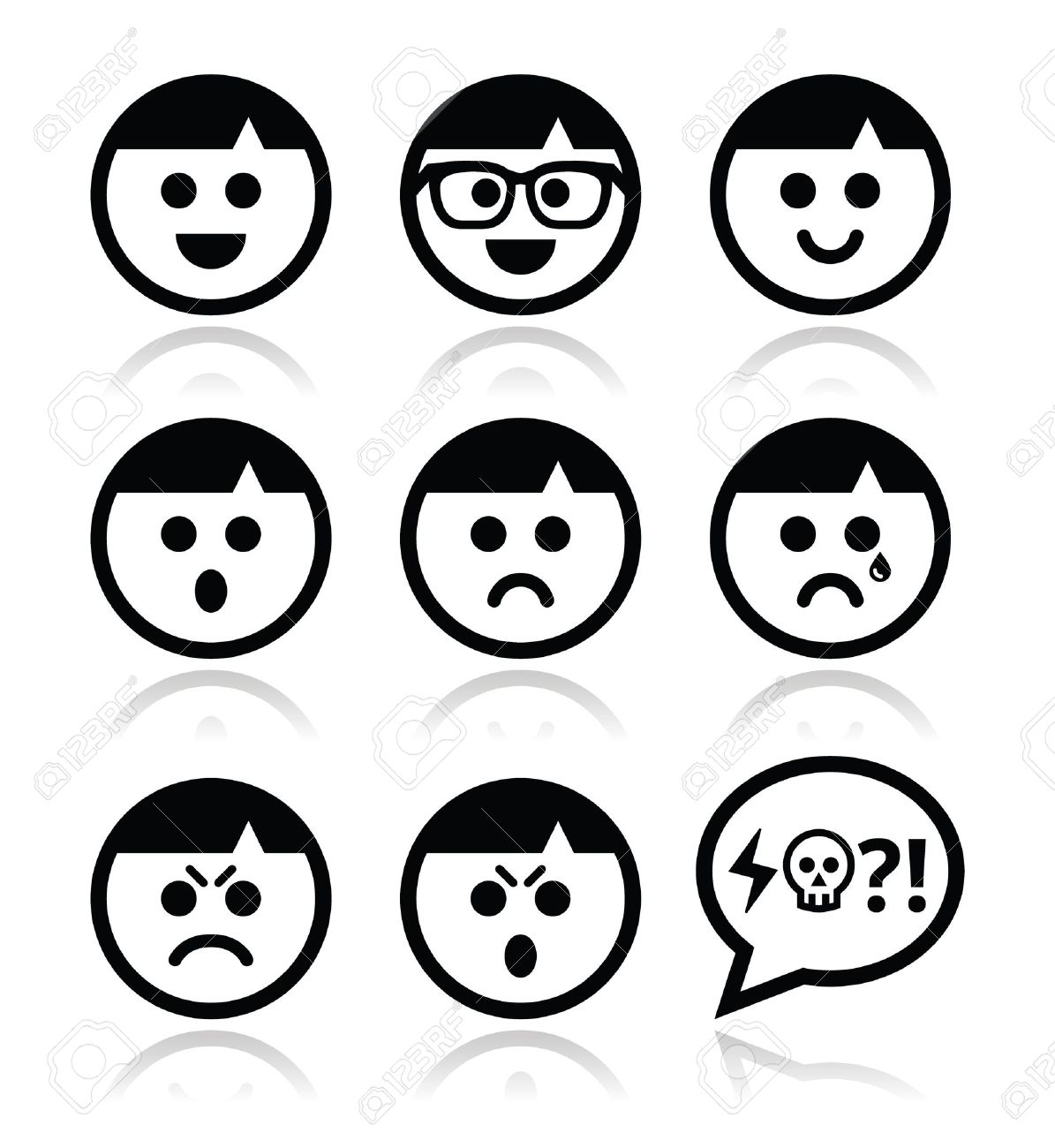 smiley faces avatar vector icons set royalty free cliparts vectors rh 123rf com smiley face vector free download smiley face vector free