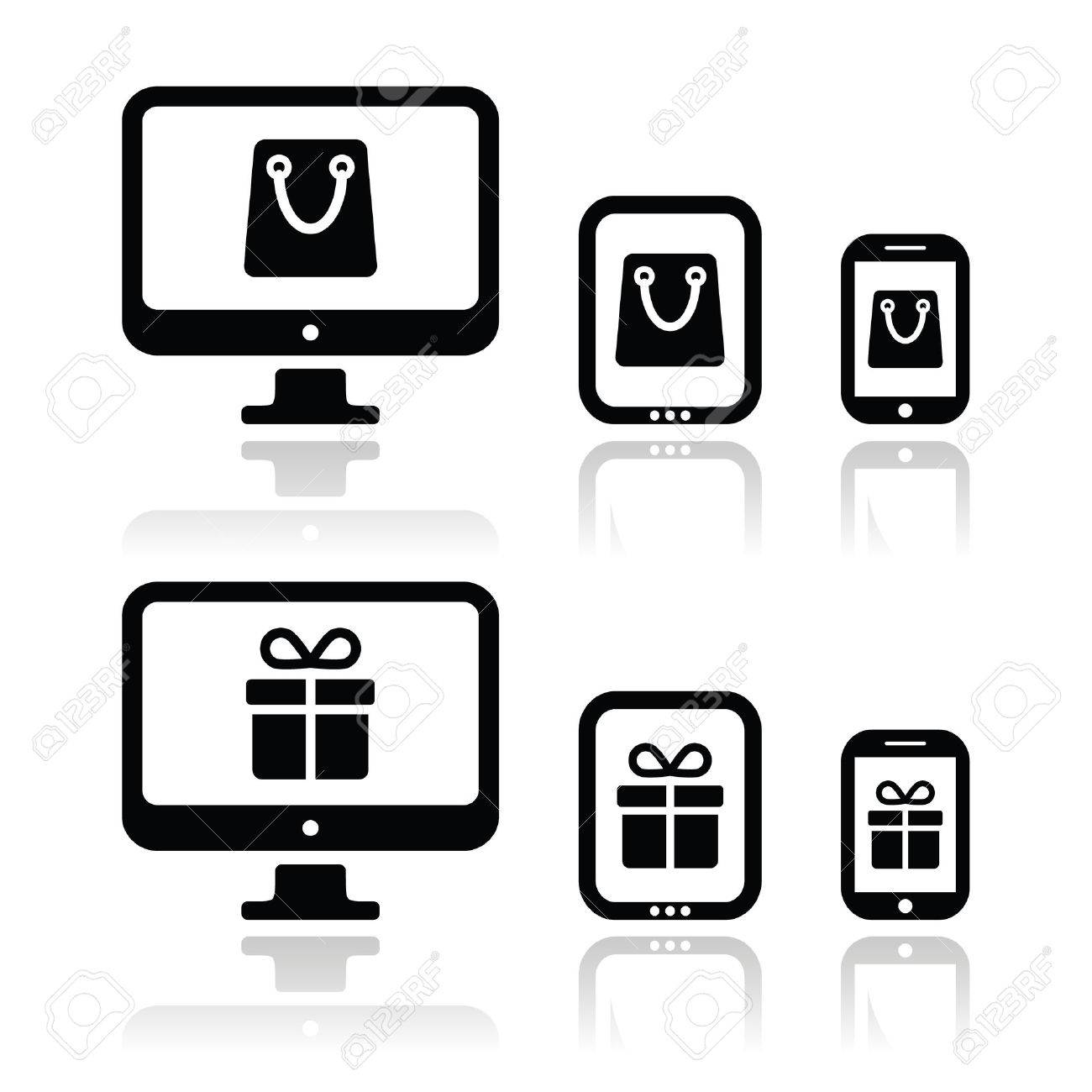 Shopping online, internet shop icons set Stock Vector - 22779006