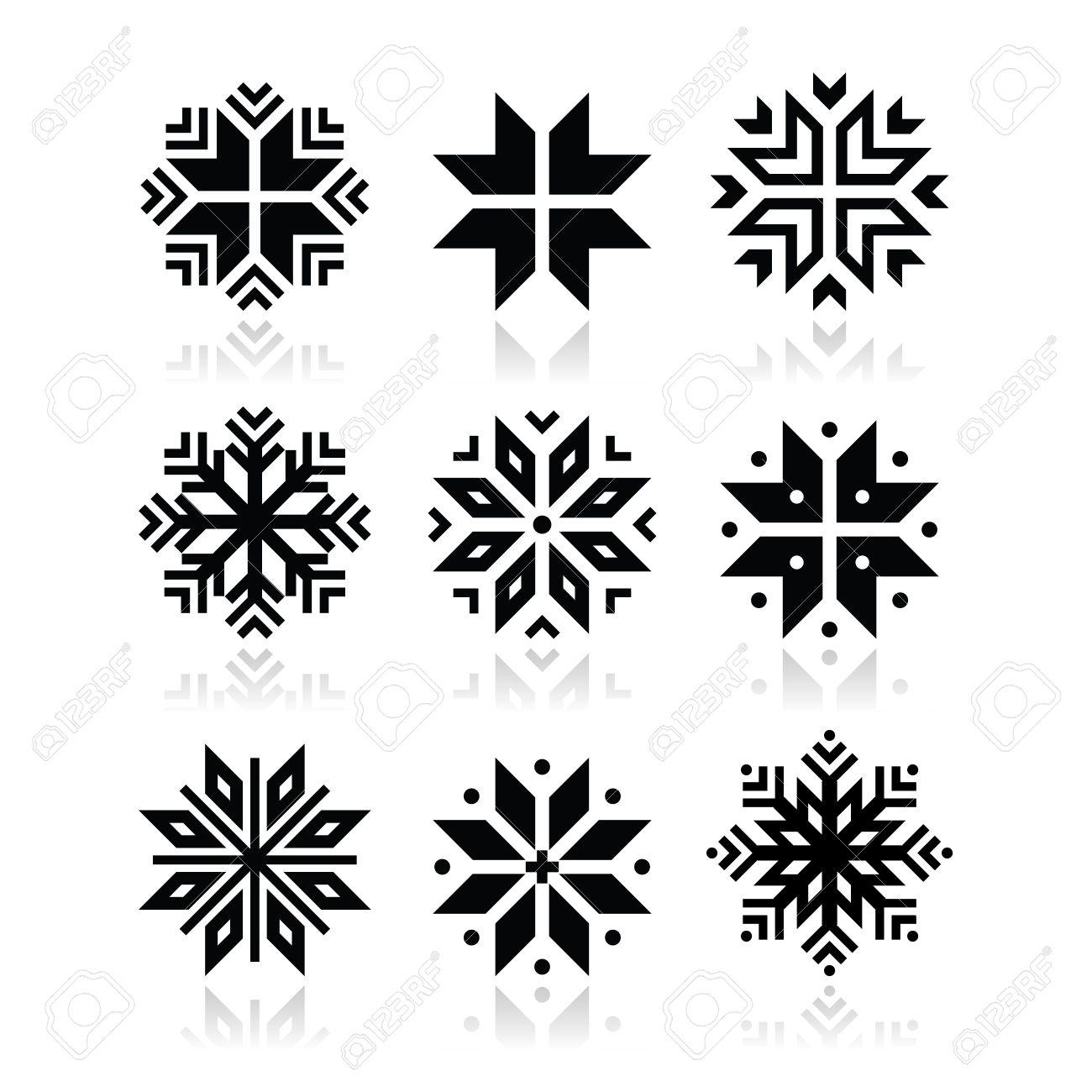 christmas winter snowflakes vector icons set royalty free cliparts rh 123rf com snowflakes vector free snowflake vector file