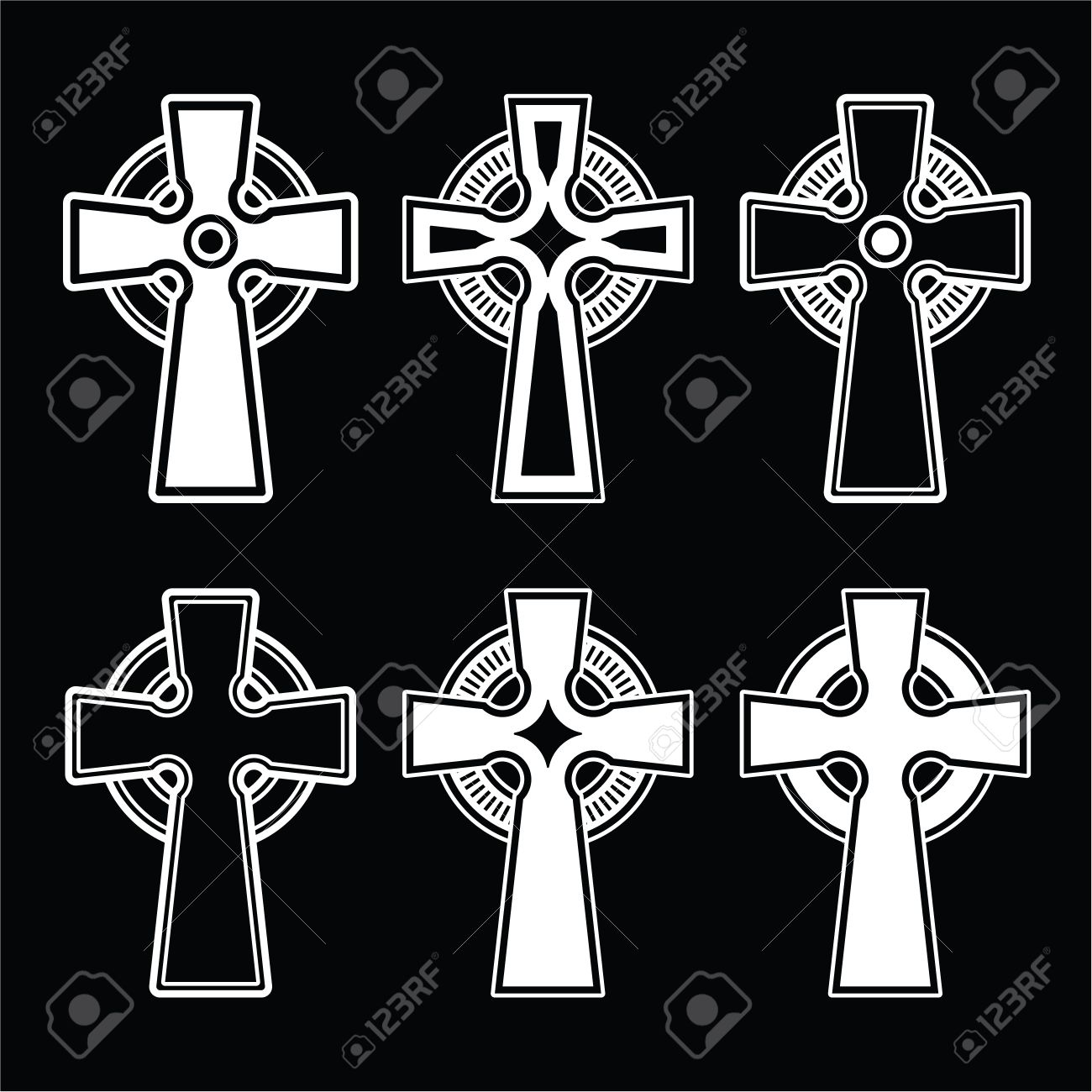 Irish scottish celtic cross on black royalty free cliparts irish scottish celtic cross on black stock vector 25964034 buycottarizona