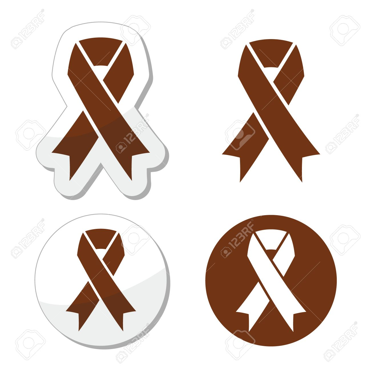 Brown ribbon anti tobacco symbol awereness of colon cancer brown ribbon anti tobacco symbol awereness of colon cancer colorectal cancer stock vector biocorpaavc