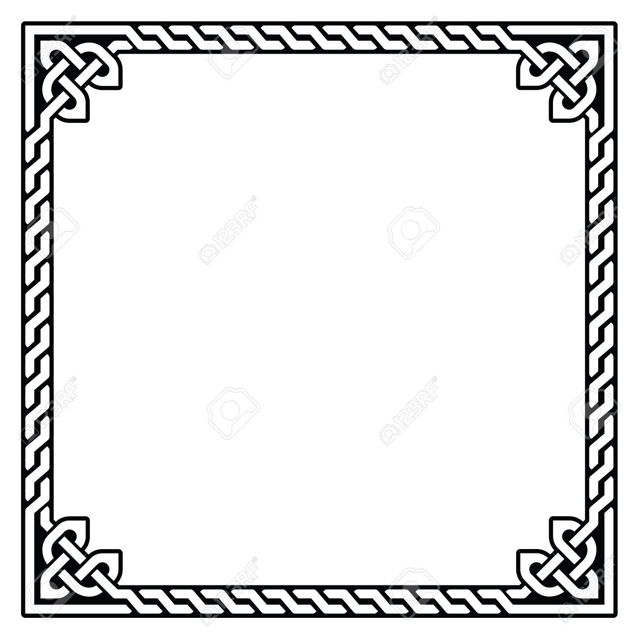 Celtic frame, border pattern - vector - 30694750
