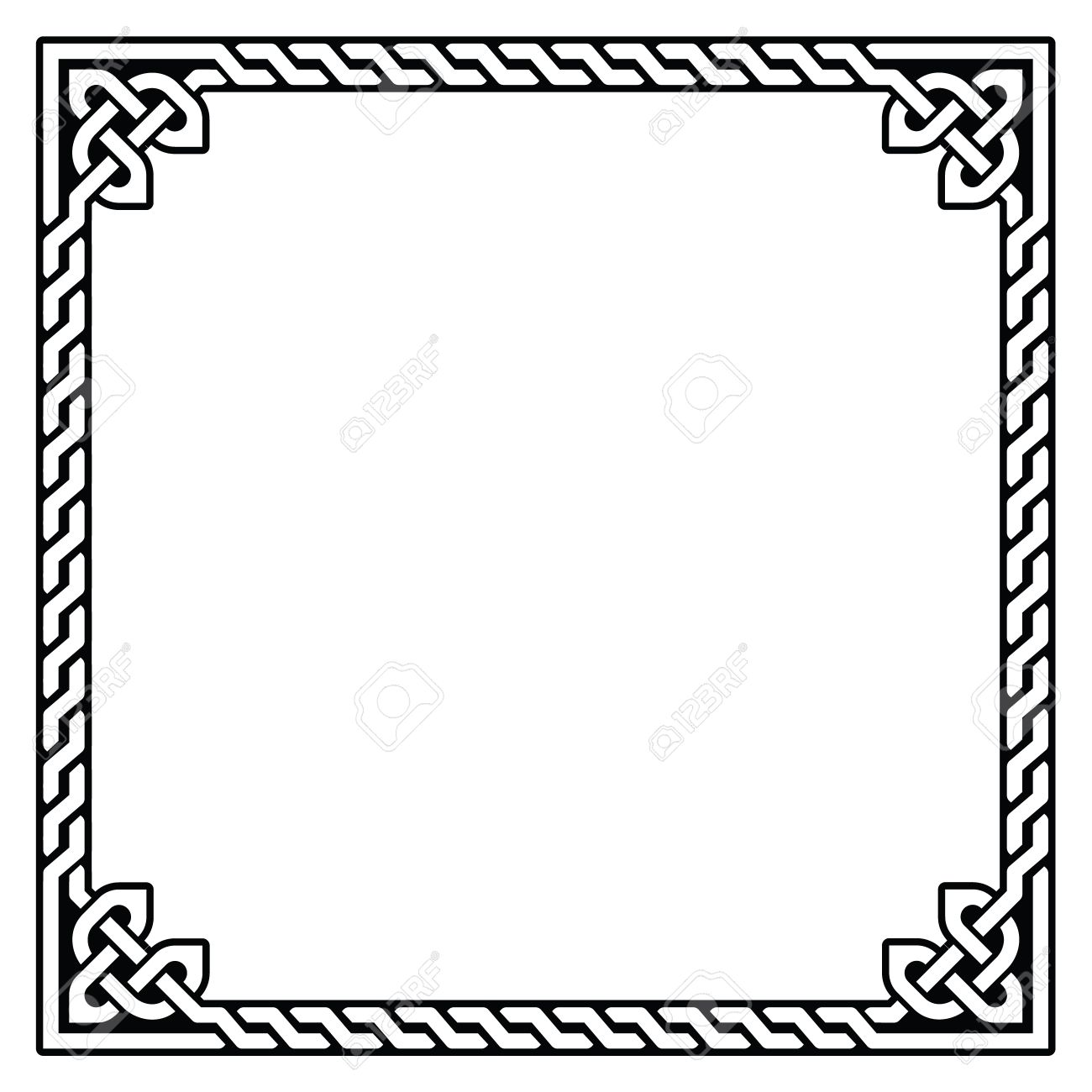 celtic frame border pattern vector royalty free cliparts vectors rh 123rf com  celtic circle border vector