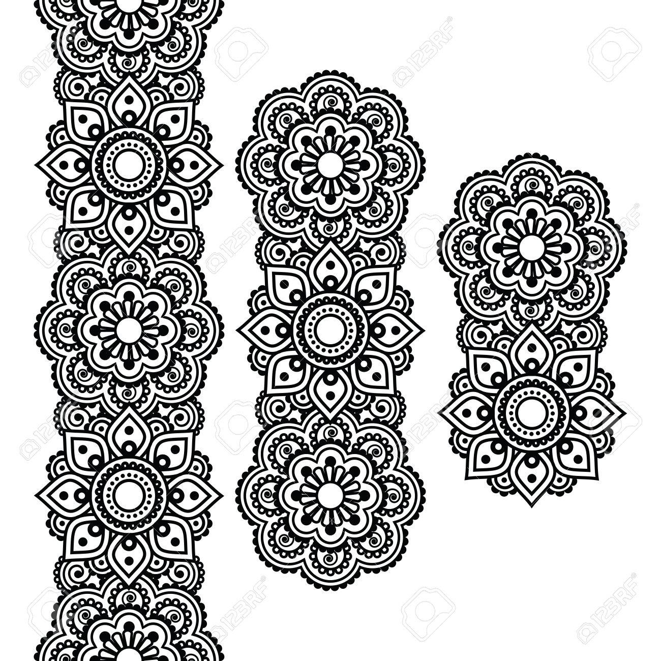 61,703 Henna Design Cliparts, Stock Vector And Royalty Free Henna ...