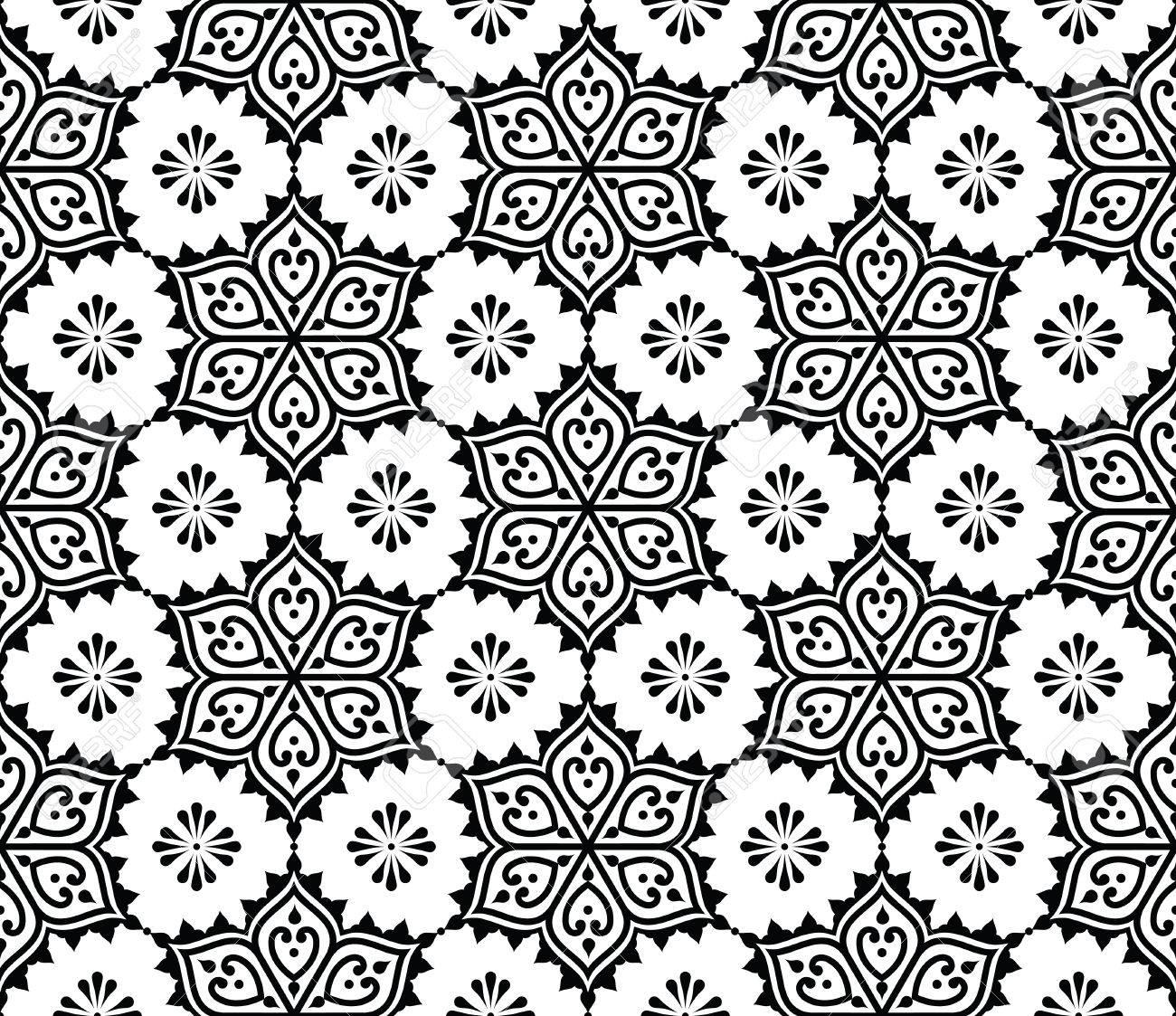 Indian Seamless Pattern Repetitive Mehndi Design Royalty Free