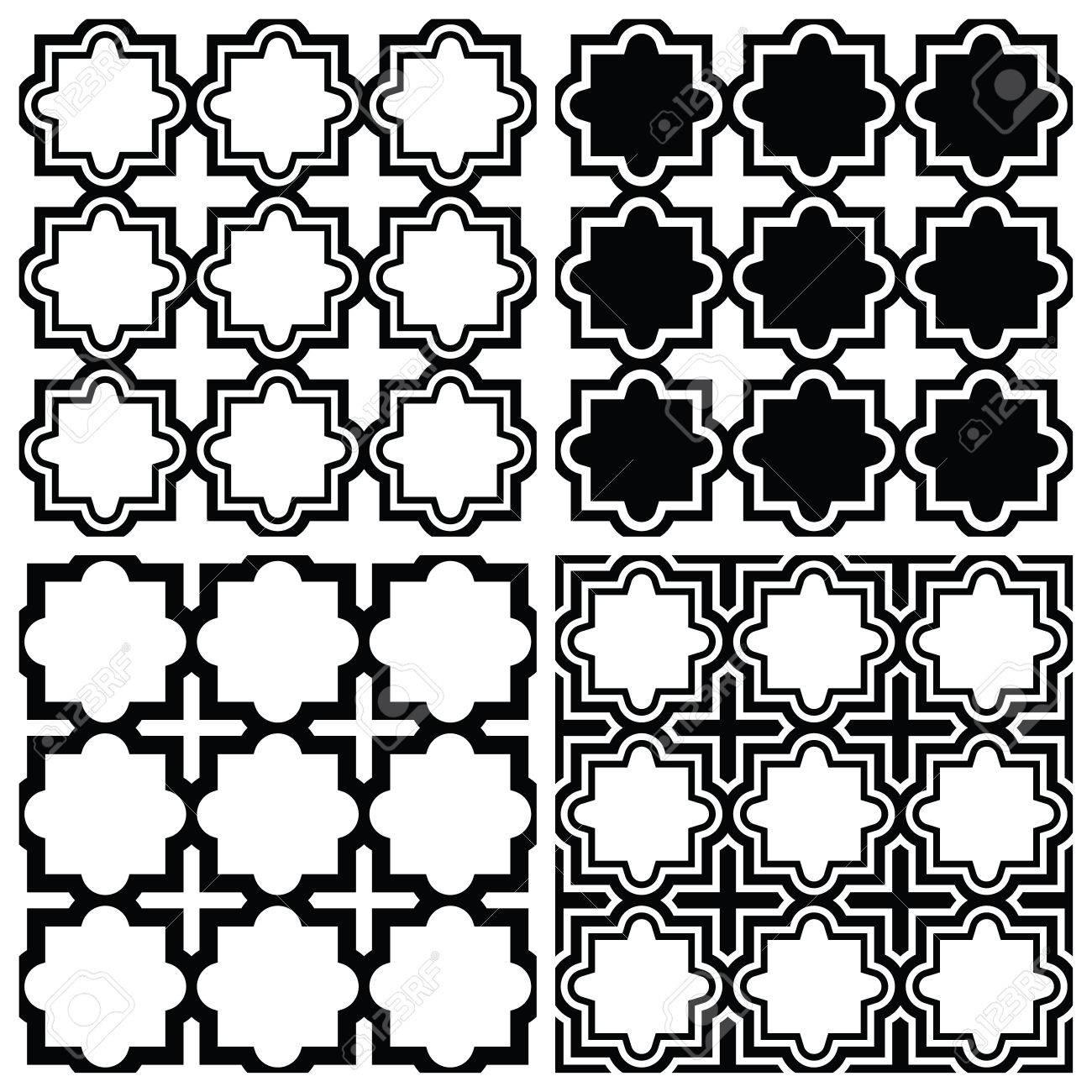 Arabic Seamless Pattern Set Islamic Repetitive Design Royalty Free