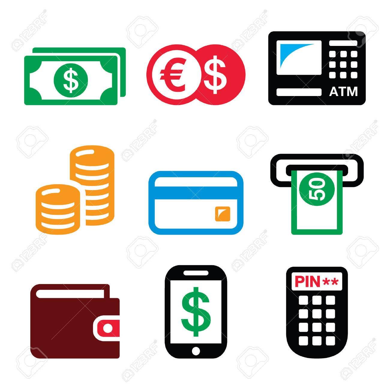 Money, ATM - cash machine vector icons set - 52473294